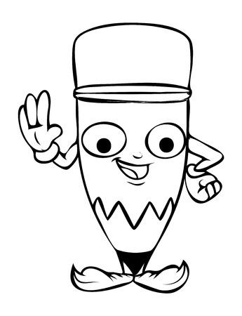 innocent: Innocent Cartoon Pencil Vector Clipart
