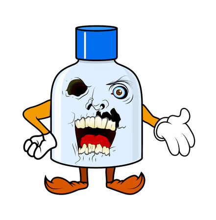 terrify: Horrible Cartoon Halloween Bottle