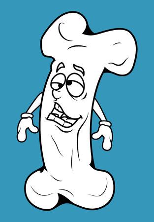 frustrated: Frustrated Cartoon Bone Vector Clipart Illustration