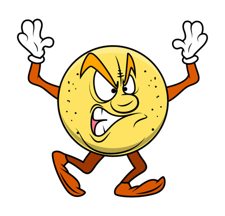 angry cartoon: Angry Cartoon Fruit Character