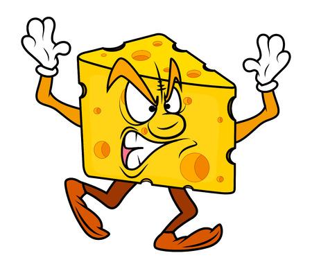 chunk: Angry Cartoon Cheese Vector