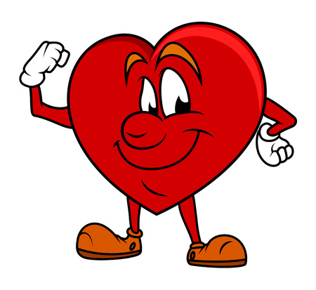 Powerful Love - Cartoon Heart Vector