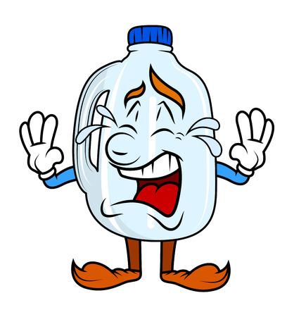 Cartoon Plastikflasche Weinen Standard-Bild - 41992058