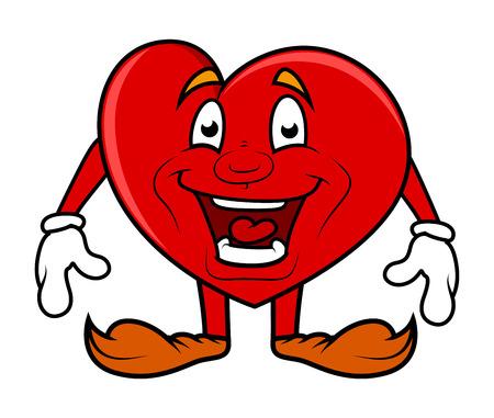 excitement: Excitement - Cartoon Heart Vector Character Illustration