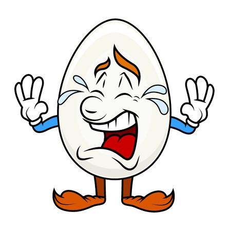 cartoon egg: Crying Cartoon Egg Character