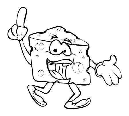 chunk: Laughing - Cartoon Cheese Vector Clipart