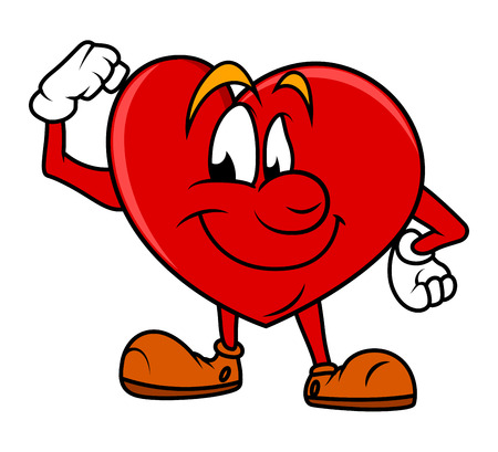 hartje cartoon: Gezonde Cartoon Heart Karakter Stock Illustratie