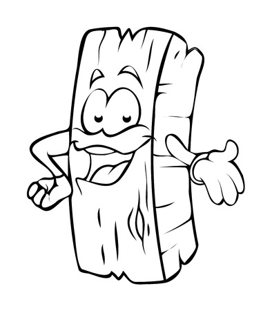 wood log: Presenting Cartoon Wood Log Vector Clipart Illustration