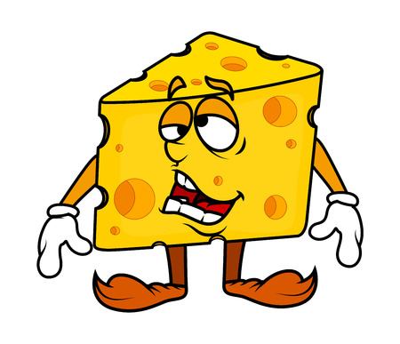 frustrated: Frustrated Cartoon Cheese Vector