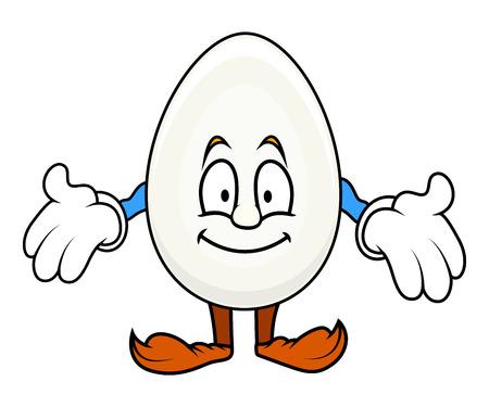 cartoon egg: Showing - Cartoon Egg Character