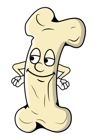 satisfied: Satisfied Cartoon Bone Character Illustration