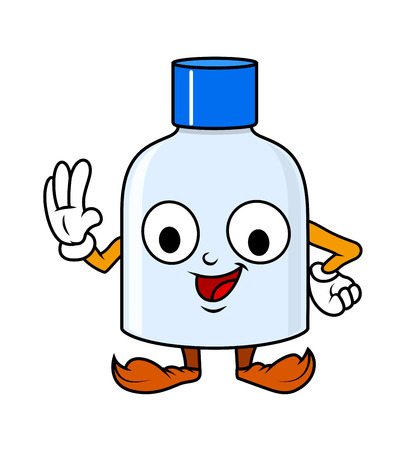 inkpot: Laughing Cartoon Bottle Character