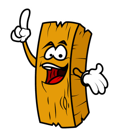 wood log: Laughing Cartoon Wood Log Vector