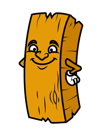 wood log: Cleverly Smiling Cartoon Wood Log Illustration