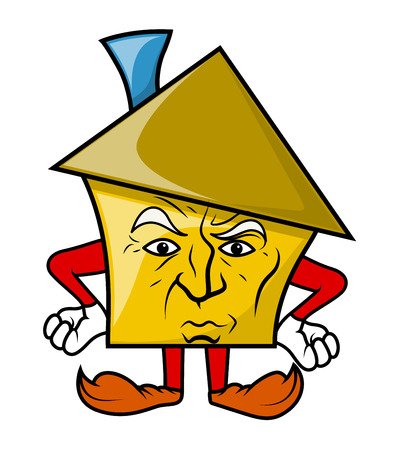 disappointed: Disappointed Cartoon House Character
