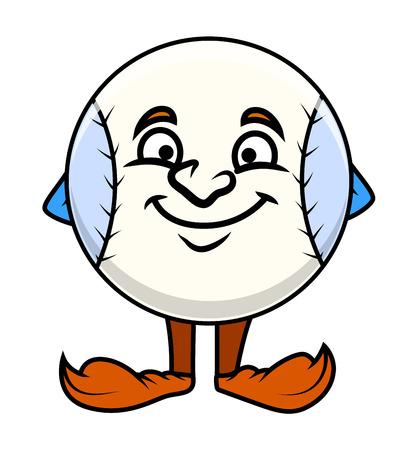 pelota caricatura: Bola de dibujos animados divertido Expresi�n facial