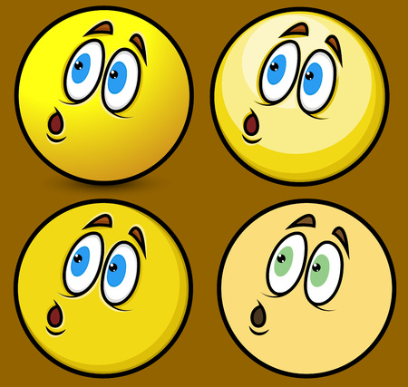 fearful: Fearful Focused Face Smiley Illustration