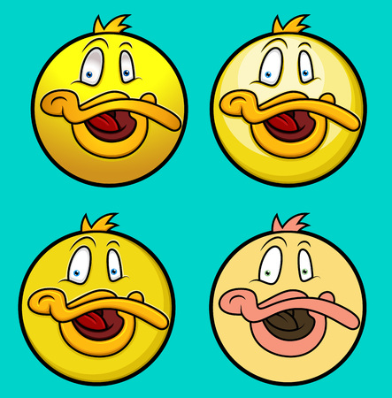 ducky: Ducky Smiley Set Illustration
