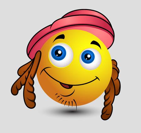 hippy: Hippy Emoji Smiley Emoticon Illustration