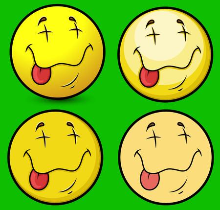 �xtasis: �xtasis cara sonriente Vectores
