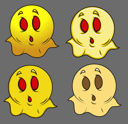 enchantment: Set of Cartoon Ghost Smiley
