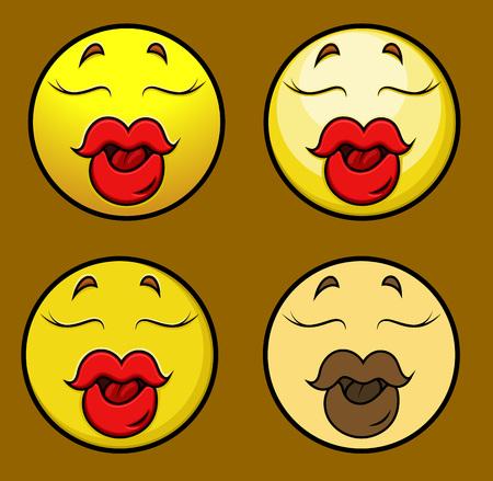 sexy lips: Seducing Sexy Lips Emoji Smiley Emoticon