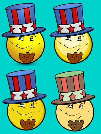 sam: Patriotic Uncle Sam Emoticons