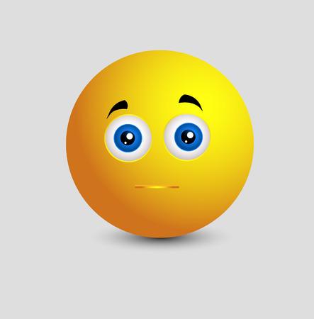 innocent: Innocent Smiley Facial Illustration