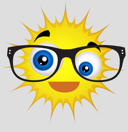 eyewear: Comic Sun Smiley with Eyewear