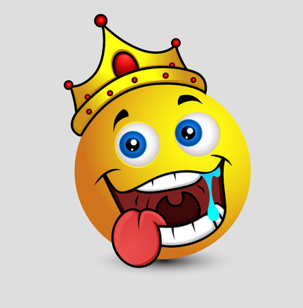 mouth watering: Drooling King Emoji Smiley Emoticon Illustration