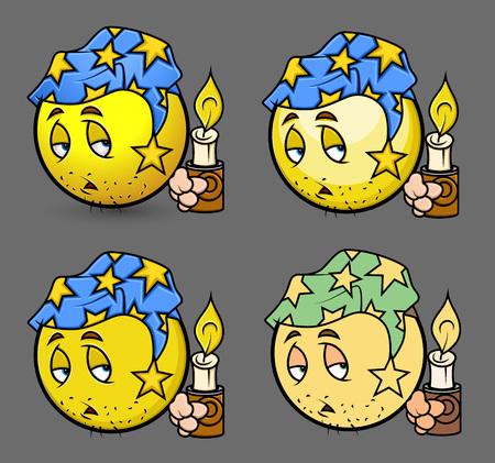 sleepily: Sleepy Smiley with Candle Set