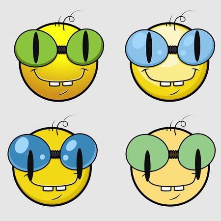 snake eyes: Bookworm Emoji Smiley Emoticon Illustration