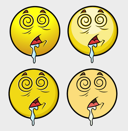 Hypnotized Emoticon Set