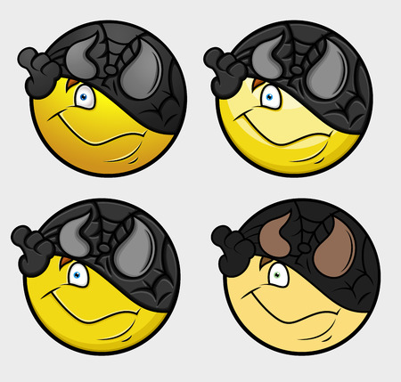 Disguise Super Hero Emoticon Illustration