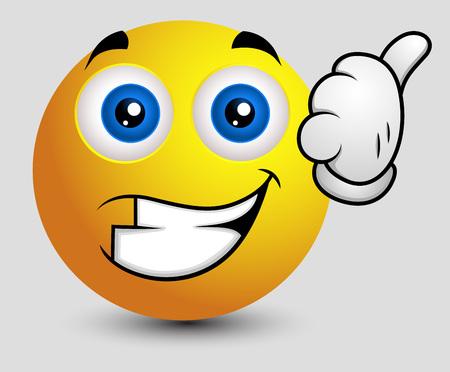 achievement clip art: Best of Luck - Emoji Smiley Emoticon