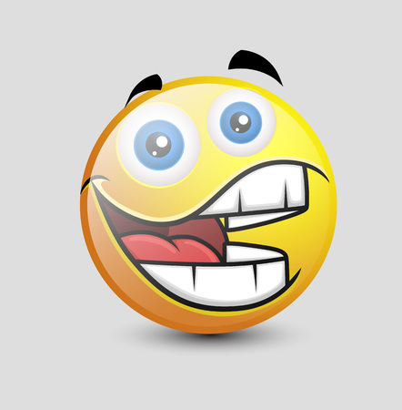 big mouth: Funny Big Mouth Smiley Illustration