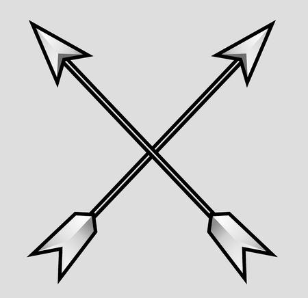 archery target: Cross Arrows Vector