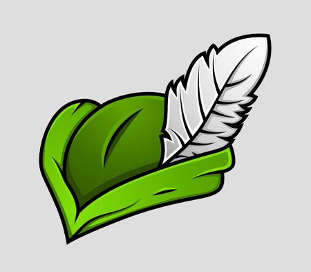 robin: Robin Hood Cap Vector Illustration