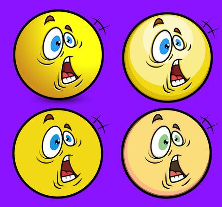 bewildered: Surprised Faces Illustration