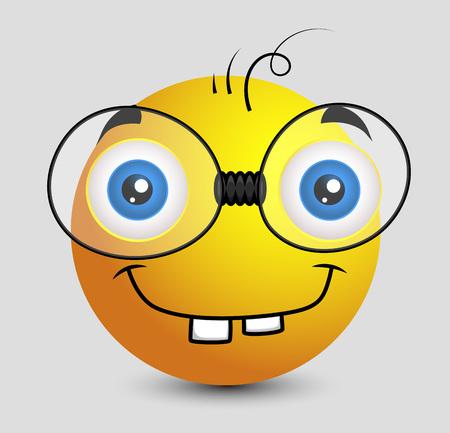 gusano: Gusano divertido libro Emoji sonriente del Emoticon