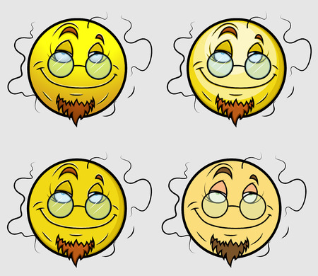 stink: Stinky Professor Emoji Smiley Emoticon Illustration