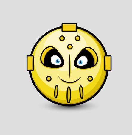 creepy alien: Creepy Robotic Alien Smiley
