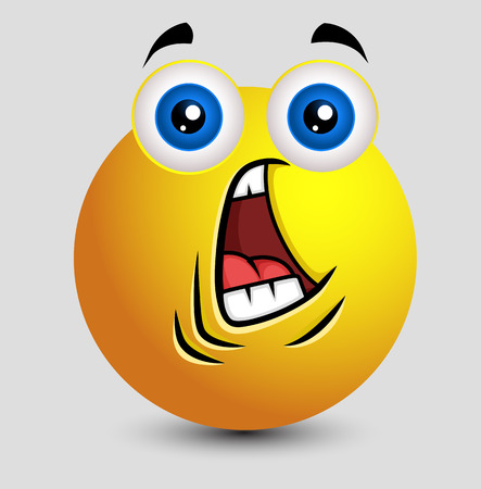 Fearful Face Emoji Illustration
