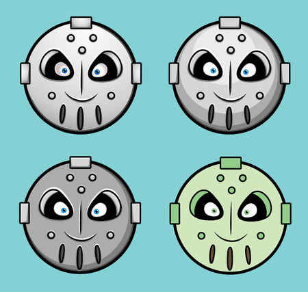 robotic: Spooky Robotic Smiley Set