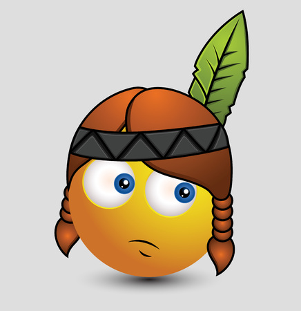 red indian: Cute Red Indian Emoji Smiley Emoticon