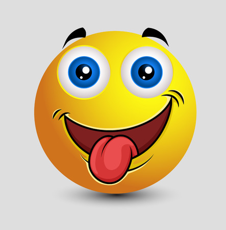 tongue out: Naughty Tongue Out Emoticon Smiley Illustration