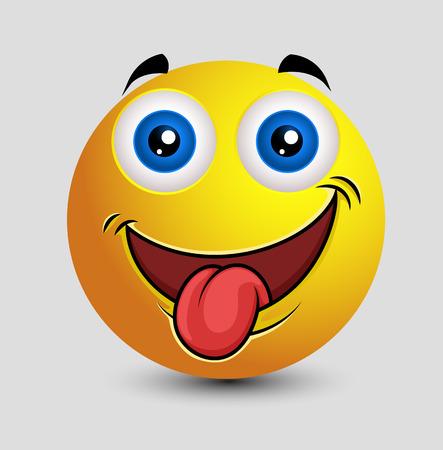 lengua afuera: Traviesa lengua hacia fuera del Emoticon