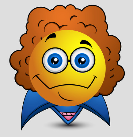 pop star: Retro Pop Star Emoji Smiley Emoticon