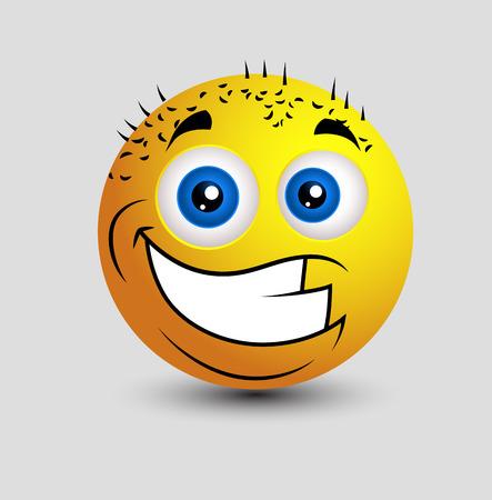smiley: Funny Bald Happy Smiley