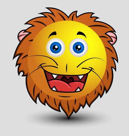 happier: Cute Happy Lion Smiley